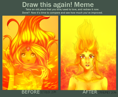 Draw this again meme: Flame Princes by Amporasexual
