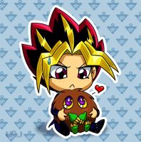 Yami Holding Kuriboh by Red-Flare