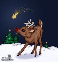 Rudolph The Red Nosed Reindeer by Blackmoonrose13