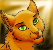 Cat head -lineart by Cleopata- by Antigone-Bookeater