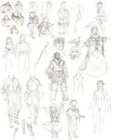 Dragon age sketches 04 by Ullervoinen