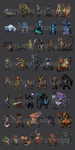 Characters by Baphometall