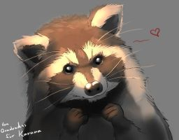 Cute Racoon by Quadrackss