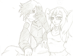 Arawn and Rina Commision by minipicaso