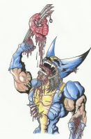 ZOMBIE WOLVERINE (colored) by THEloathedONE