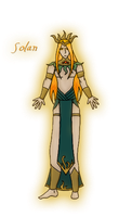 Solan the God of Light by The-Serene-Mage