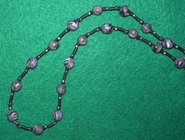 Complete black clay necklace by ladytech