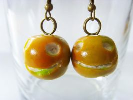 Ameila Pond's Apple Earrings - Antique Gold by tyney123
