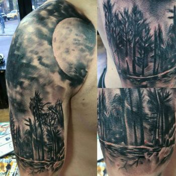 forest tattoo by thirteen7s