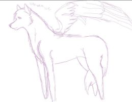 Angel Wolf by lithiumharddrive