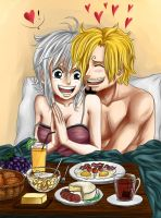 Breakfast with Sanji and Cova by Arin-ya