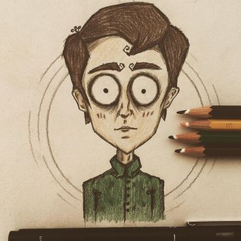 A quick self portrait :) by november-ludgate