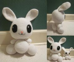 Super Size Amigurumi Angel Bunny by Oni4219