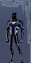 Batman TRON-ified by djzutkovic