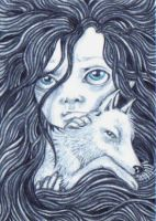 ACEO - SANCTUARY...Arctic Fox by KootiesMom