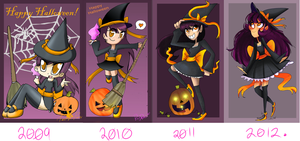 all the Halloween withces by zamii070
