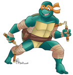 The Wise Guy Is Michelangelo~ by Shellsweet