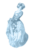 Victorian lady clipart by jinifur