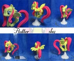 Flying Fluttershy by dustysculptures