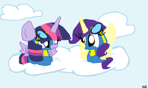 Alicorn Wonderbolts by LittleCloudie