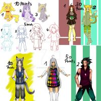 Huge Adoptable Sale (OPEN) by ThePaperCard