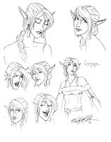 Lamayne Facial Study by WendyDoodles