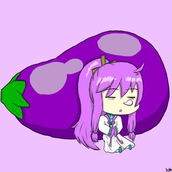 (Vocaloid 8) Chibi Gakupo and His Eggplant by MidnightCatK