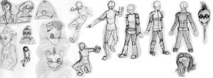 Another Sketch Dump lol by EyonSplicer