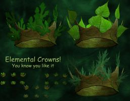 3D Stock Elemental Crowns by Delekatala-stock