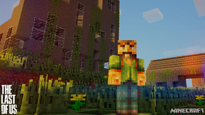 The Last of Us/Minecraft Wallpaper by SkiddleZIzKewl