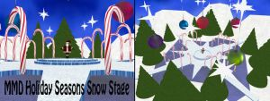 MMD Holiday Seasons Snow Stage DL by SachiShirakawa