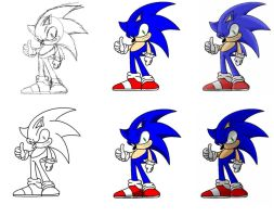 How i draw: Sonic by nothing111111