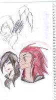 Axel and Xsen Sketch by AmeliaWolfe