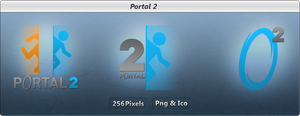 Portal 2 - Icon Pack - DARK by Crussong