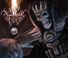 Lich painting by megapowerskills