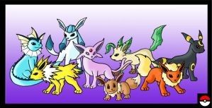 Eevee Family by ZappaZee