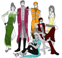 A Clan's Gathering (Flat Colors Drafting) by The-TimeRunner