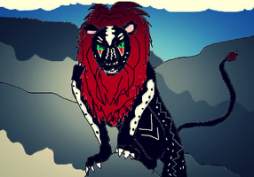 Black Spirit Lion by ApocaWarCry