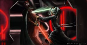 The death of Darth Nihilus by artist2point5