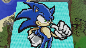 Minecraft Sonic by ShadowRider2000