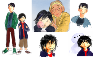 big hero 6 doodles by X3carlyX3