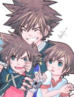 KH: Triple Threat by AmukaUroy
