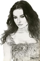 Catherine Zeta Jones 2 by drawrealisticface