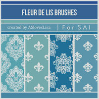{SAI resources} Fleur-de-lis Brushes by ASlovesLisa