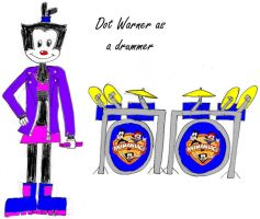 Dot Warner as a drummer by Dorothy64116