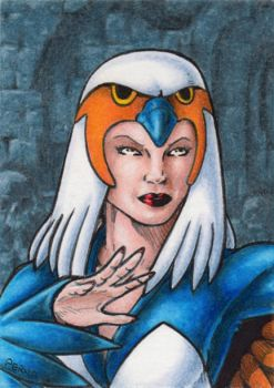 Sorceress Sketch Card by tonyperna