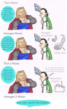 Thor and Loki - Great Leadership by puking-mama