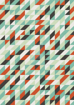 Retro triangular pattern design BWG by Aliroll