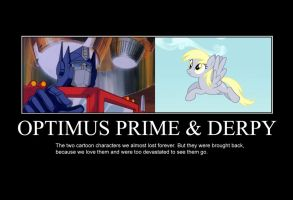 Optimus Prime and Derpy by GreenMachine987