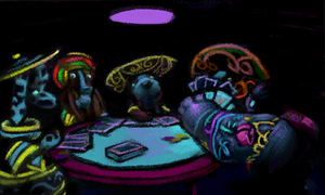 Dogs Playing Poker by Edgar-Teglee